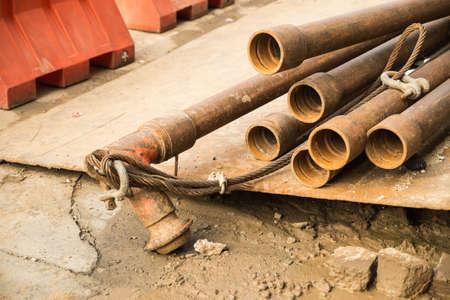 materiales de construccion: materiales de construcci�n con tuber�a