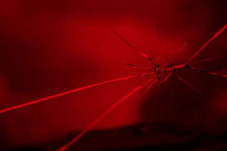 unfaithfulness: broken red glass