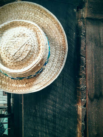 clothing: Hat on vitage wooden Stock Photo