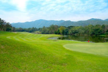 Golfbaan landschap Stockfoto