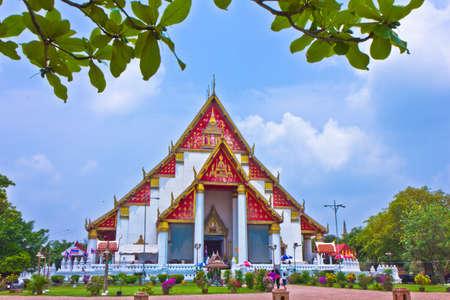 Viharn Phramongkhon Bophit in Ayutthaya , Thailand photo