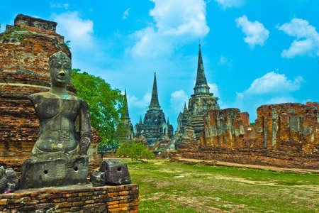 Wat Phra Si Sanphet in Ayutthaya , Thailand photo