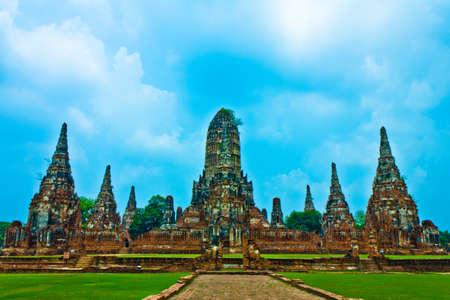 Wat Chaiwatthanaram in Ayutthaya, Thailand photo