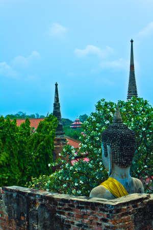 Buddha image of Wat Yai Chaimongkhon in Ayutthaya , Thailand photo