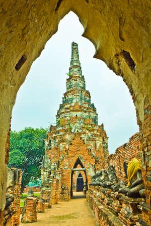 Interior of Wat Chaiwatthanaram in Ayutthaya , Thailand photo