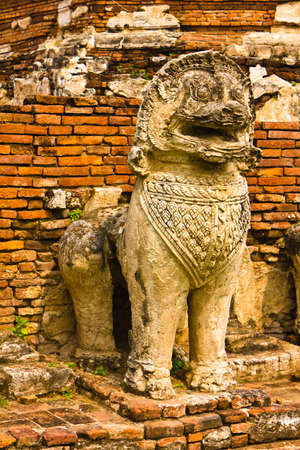 Leo chedi at Wat Tummickarat in Ayutthaya , Thailand photo