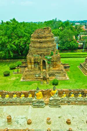 Buddha image at Wat Yai Chaimongkhon in Ayutthaya , Thailand photo