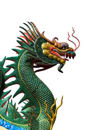 gods: Dragon Gods vertical white background. Stock Photo