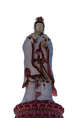 refrain: Guanyin A refrain that has a white background.