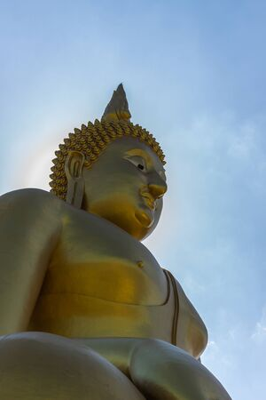 new contract: Buddha new contract with sky behind.