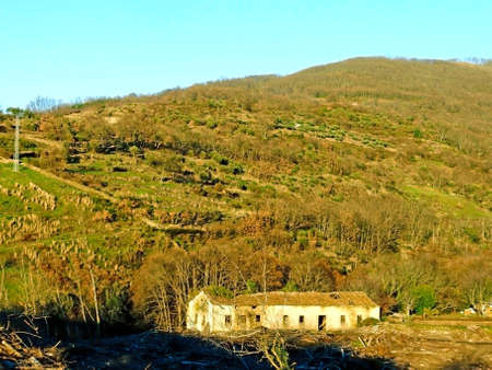 abandoned house: Abandoned house on the mountain in Spain