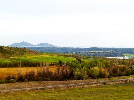 castilla la mancha: Agricultural landscape on Castilla la Mancha, Spain