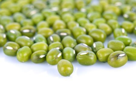haricot: Green bean or mung bean closeup