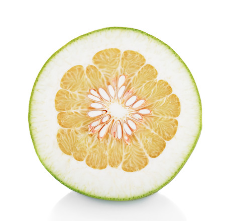 sliced pomelo isolated