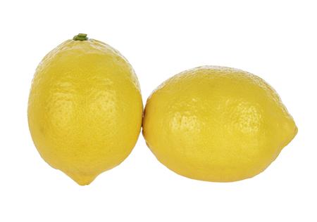 lemon isolated on white background. Tropical fruit Stock Photo