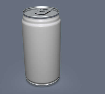 Blank aluminium can mockup on clear background. Can place for your design,3D illustration Stok Fotoğraf