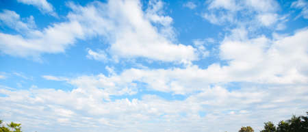 Panoramic photo cloudy blue sky with the abstract background.,blue sky and clouds or cloudscape