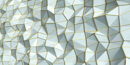 Abstract background with triangles and golden lines., 3D illustration.,polygonal design  Abstract geometrical backgrounds, website backgrounds or advertising.
