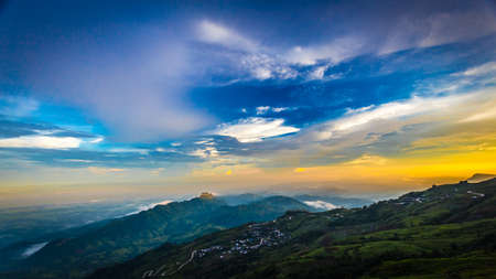 Majestic sunset in the mountains landscape thailand Stock Photo