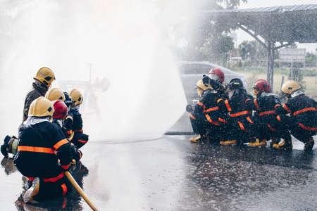Firefighters training .fireman