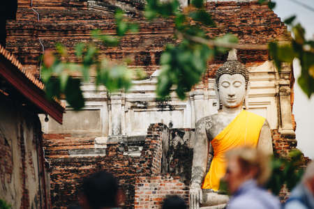 Buddha Statue at Wat Yai Chaimongkol in Ayutthaya Thailand