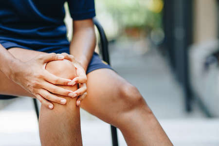young women knee ache, healthcare concept