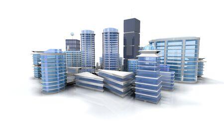 Project City Modern Building Metropolis 3D City Design Project 写真素材
