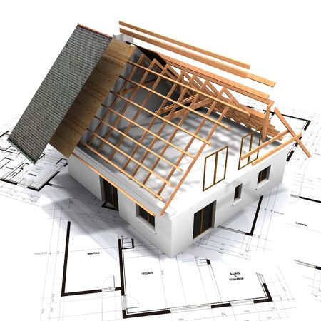 Roof designing roof visualization construction