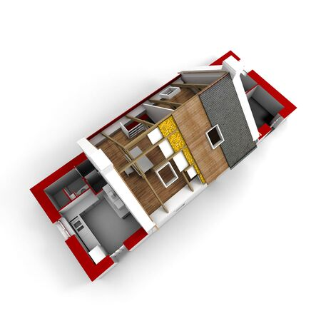 The house on top is a room from the inside of the plan