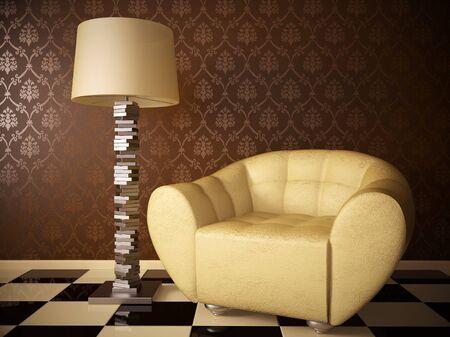 Chair original interior design floor lamp room style