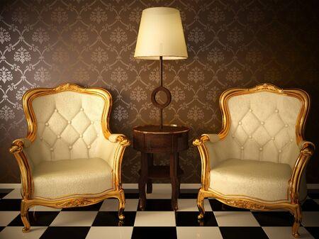 Armchairs vintage white interior designs room antiques floor lamp
