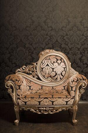 Vintage chair vintage design style wallpaper Imagens