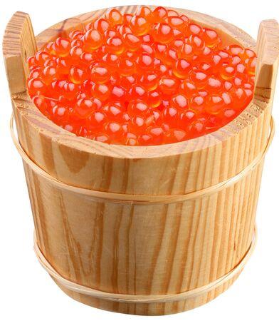 Caviar red barrel white background