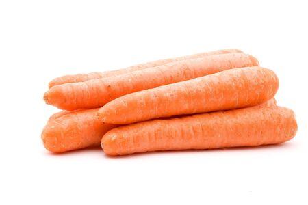 Carrot vegetables on a white background Zdjęcie Seryjne