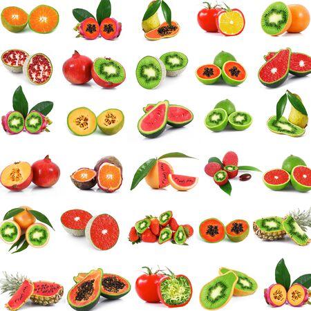 exotic fruit on a white background . Imagens