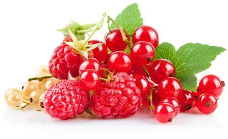Raspberry on white background. Imagens