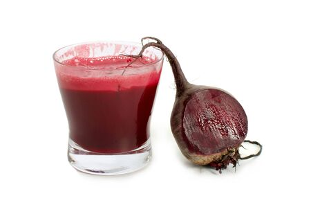 Juice smoothie fresh beetroot white background . Imagens