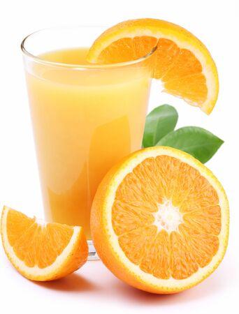 Oranges juice fresh drink half pulp white background . Imagens - 131597869