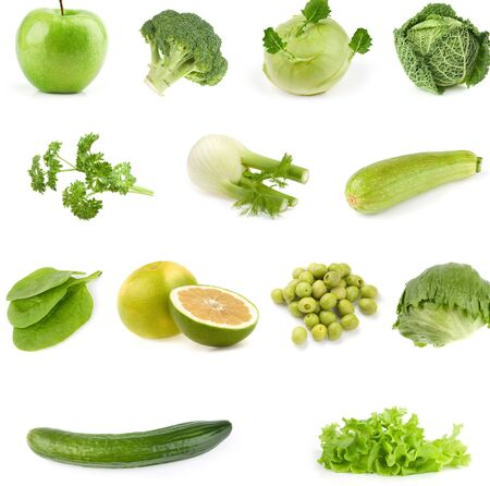 set of vegetables oon white background . Imagens - 131821087