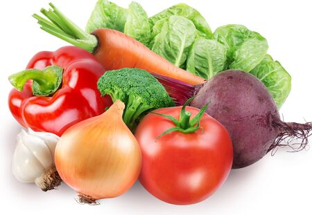 Vegetables set beetroot broccoli onion tomato tomato tomato .