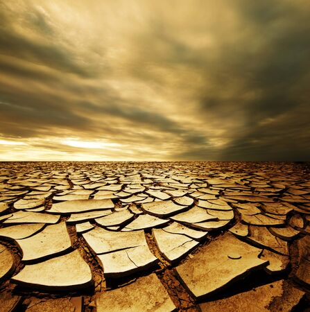 Aterriza en las grietas del cielo seco del desierto.