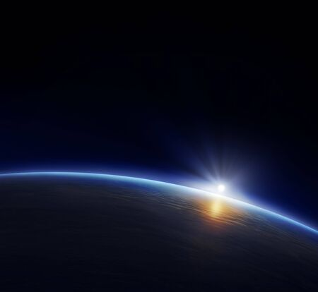 Planet Earth Space Black Background .