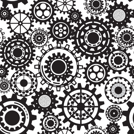 mechanical parts: Abstract Machine pattern. Seamless mechanism texture. Illustration with cogwheels and mechanical parts.  Illustration