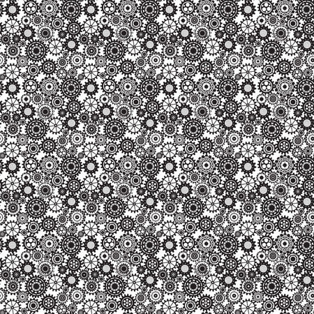 mechanical texture: Abstract Machine pattern. Seamless mechanism texture. Illustration with cogwheels and mechanical parts.  Illustration
