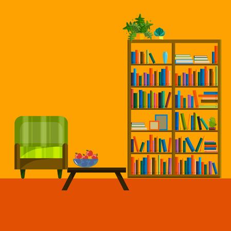 living room wall: Living room Interior. Modern flat design of living room illustration. Living room wall. Furniture for living room. Living room in flat style. Concept for living room. Living room interior set. Illustration