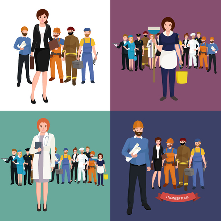 People different profession. Man and woman vector illustration set. Group of people Иллюстрация
