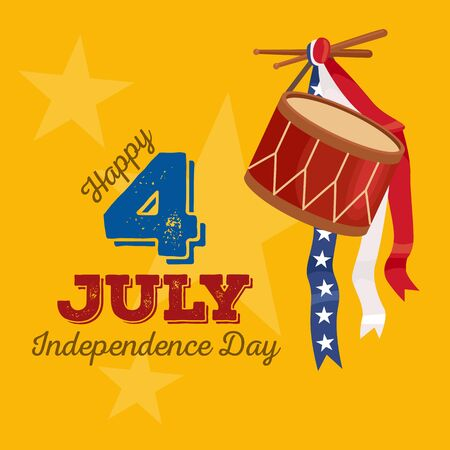 fourth of july: Happy 4th of July - Independence Day Vector Design - July Fourth