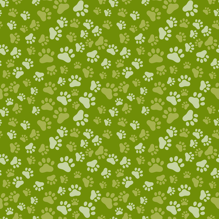 dog track: Dog Paw Print Seamless, anilams pattern, vector illustration becolor