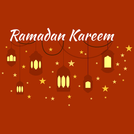 greeting card background: Happy Ramadan Kareem, greeting card and background illustration