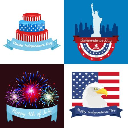 fourth of july: Happy 4th of July - Independence Day Design - July Fourth